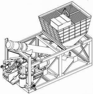Мобильная бесфундаментная установка для выгрузки цемента из биг-бэгов (мягких контейнеров) В-283-031 -03